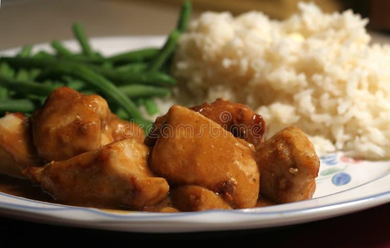 鸡正餐 图库摄影