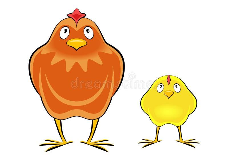 鸡母鸡 皇族释放例证