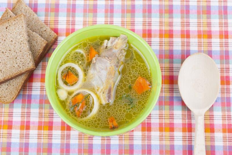 鸡汤。 库存图片