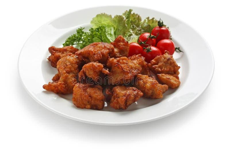 鸡油煎的日语 免版税库存照片