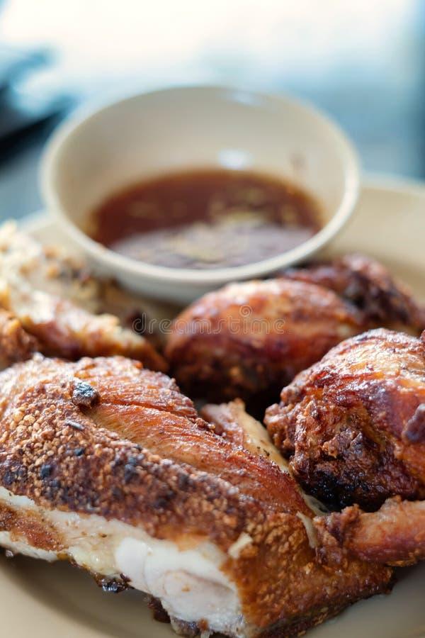 鸡油煎的泰国 库存照片