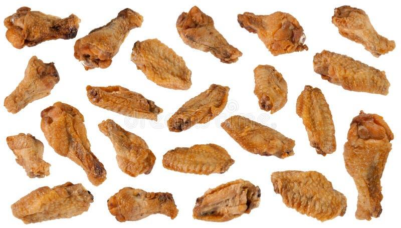 鸡油煎的翼 库存照片
