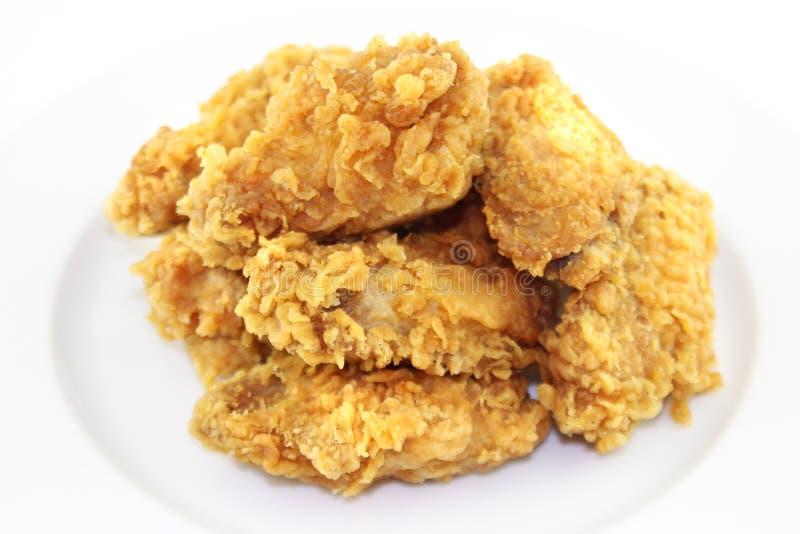 鸡油煎的翼 免版税库存照片