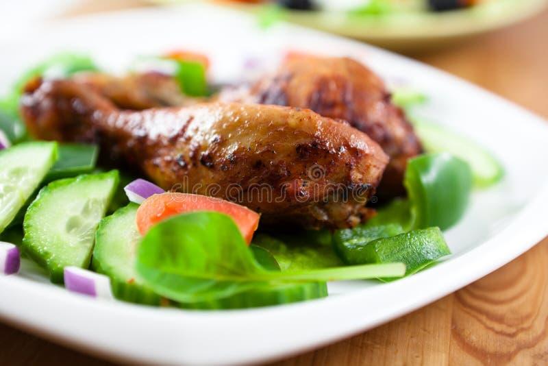 鸡烘烤蔬菜 免版税图库摄影