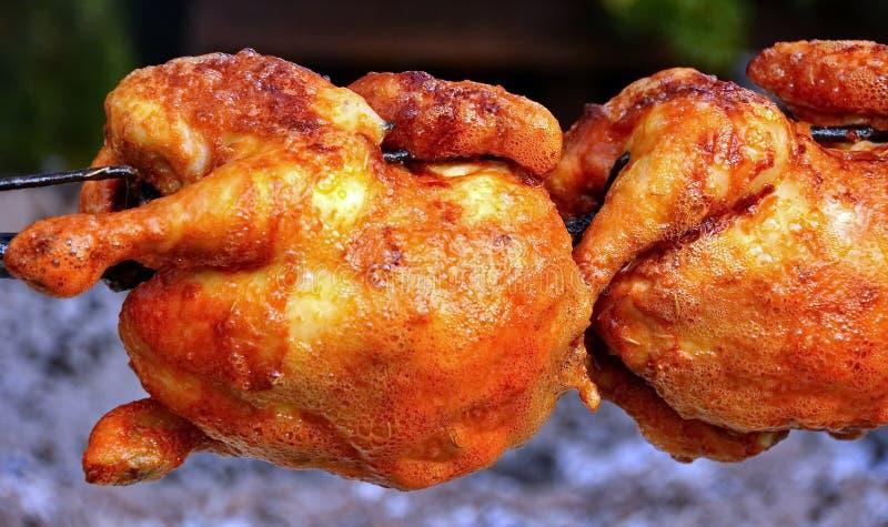 鸡烤了 免版税库存图片