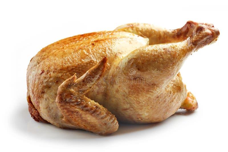鸡烤全部 免版税库存照片