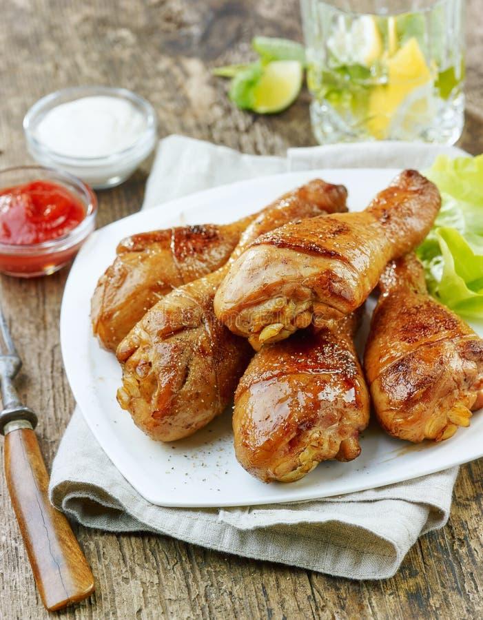 鸡烤行程 库存图片