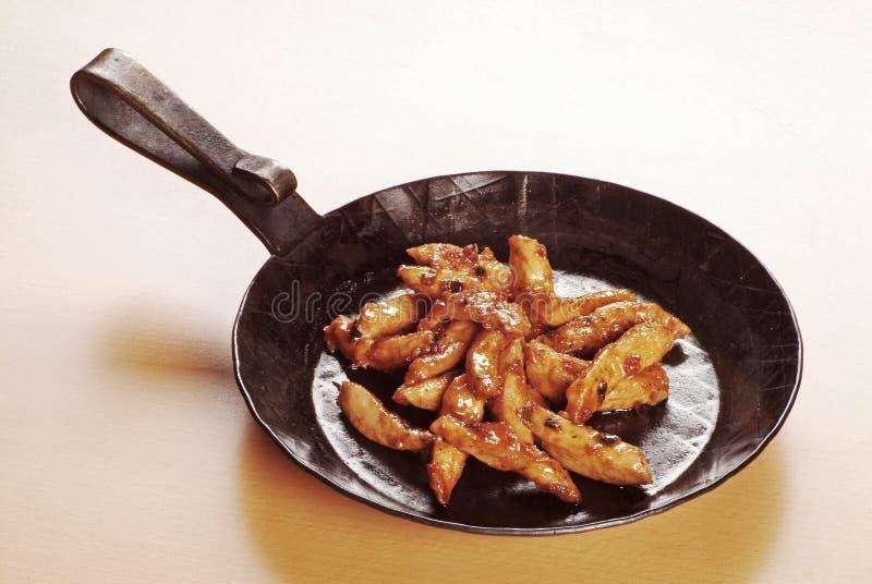 鸡用卤汁泡的肉 图库摄影