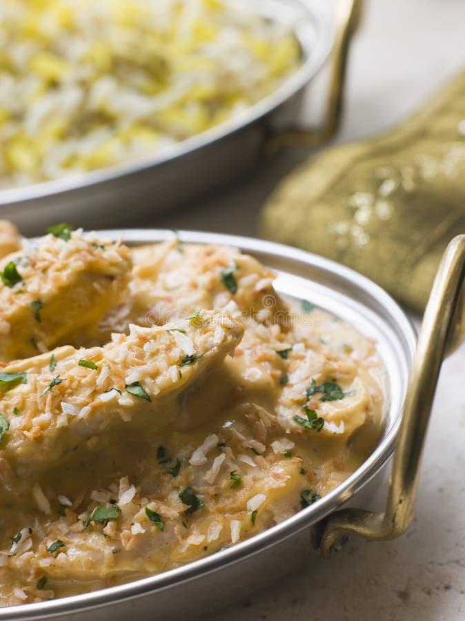 鸡肉菜肴pasanda pilau 库存图片