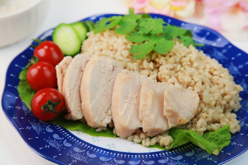 鸡肉饭 免版税库存图片