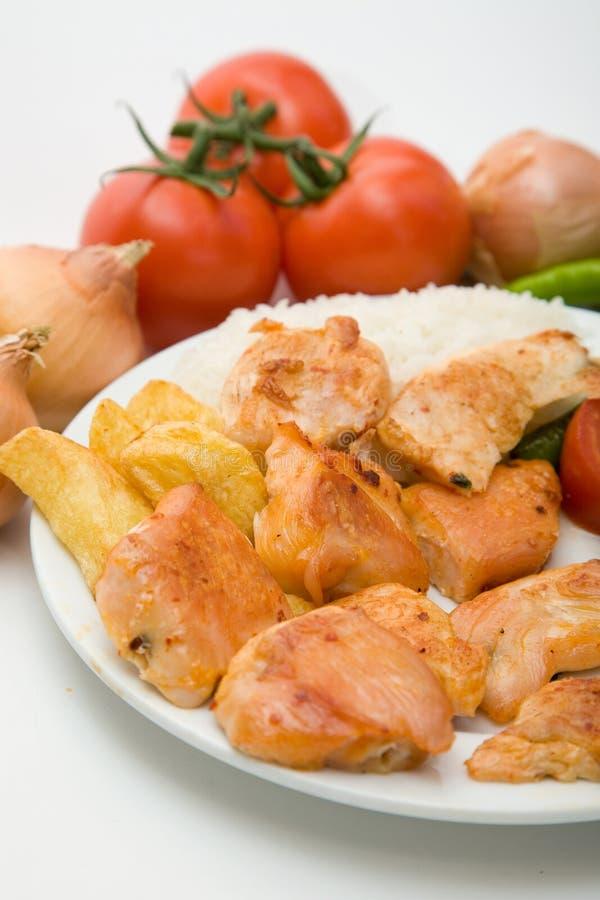 鸡膳食 免版税库存图片