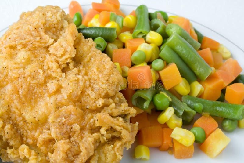 鸡蔬菜 免版税库存图片