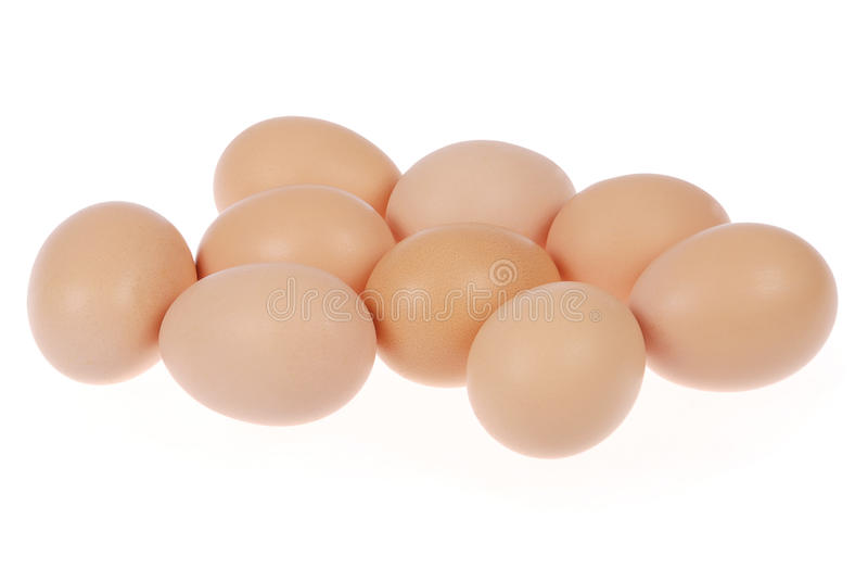 鸡蛋九 库存照片