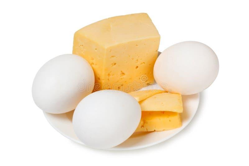 鸡蛋和乳酪 免版税库存照片