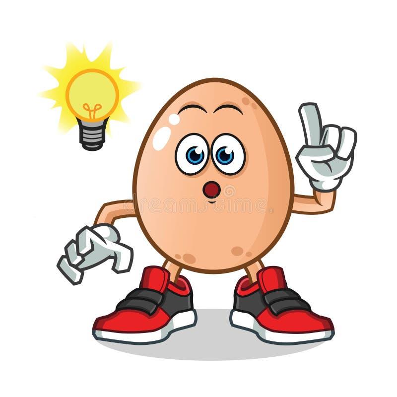 鸡蛋得到了想法吉祥人传染媒介动画片例证 向量例证