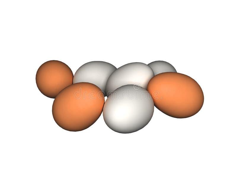 鸡蛋查出白色 皇族释放例证