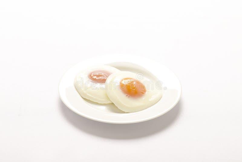 鸡蛋油煎了二 免版税库存图片