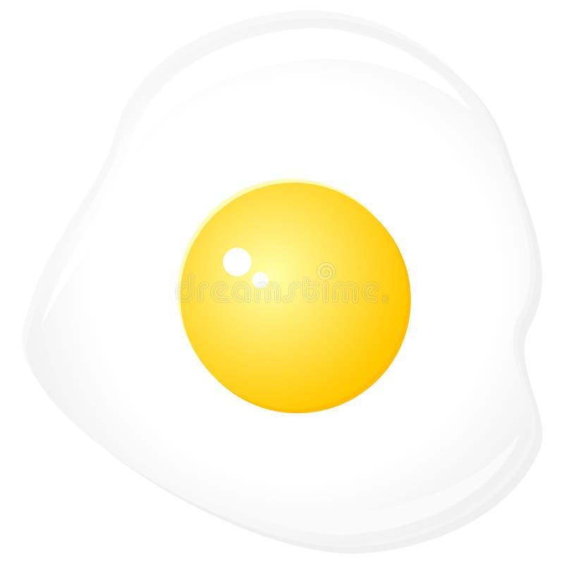 鸡蛋油煎了 皇族释放例证
