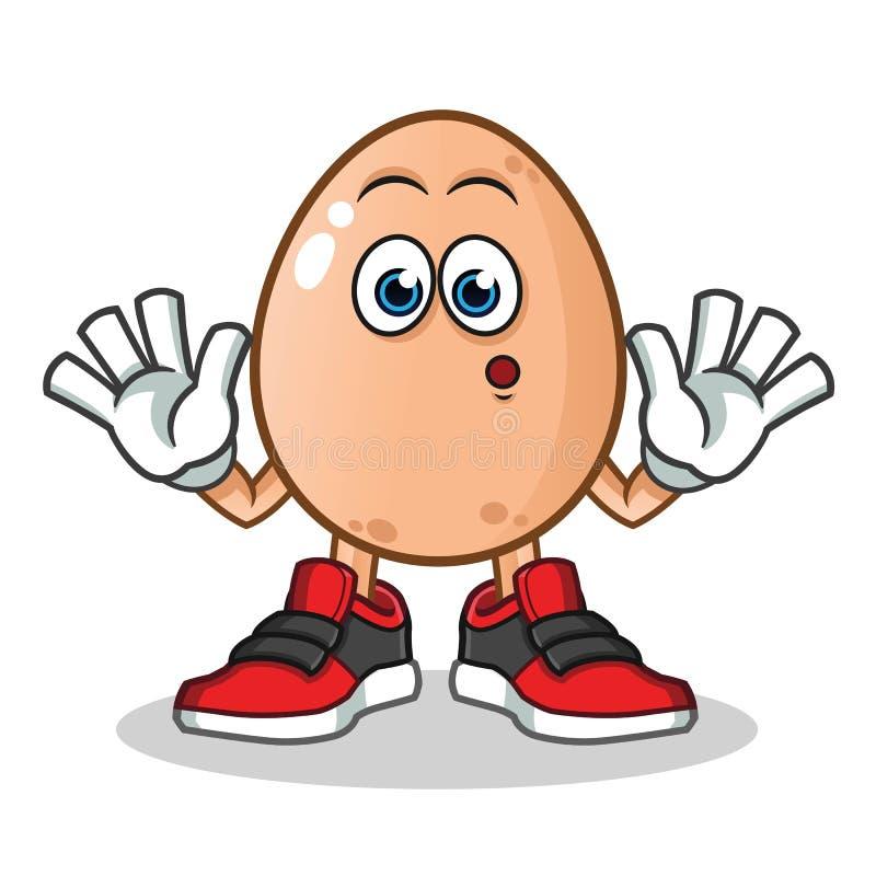 鸡蛋被震惊的吉祥人传染媒介动画片例证 皇族释放例证