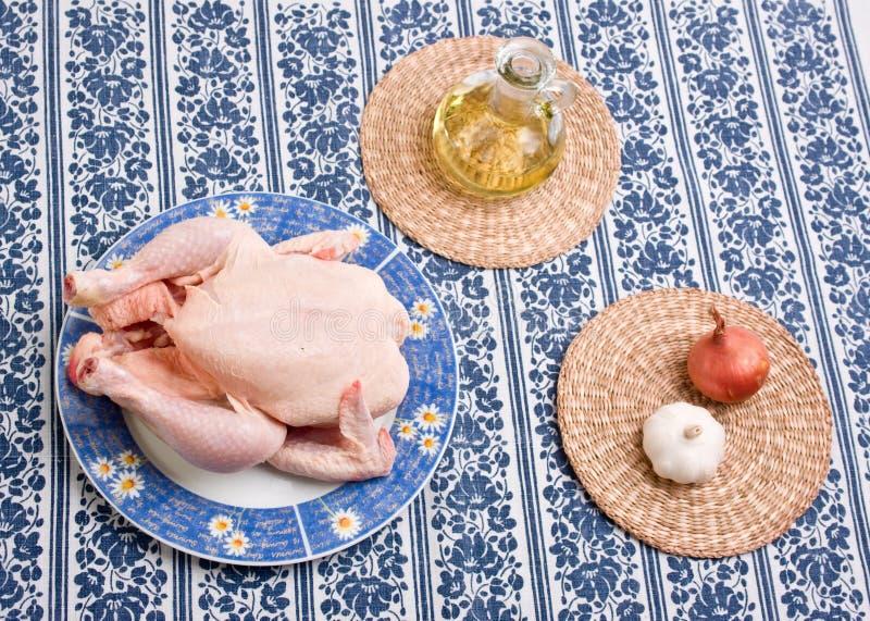 鸡装饰牌照 免版税库存图片