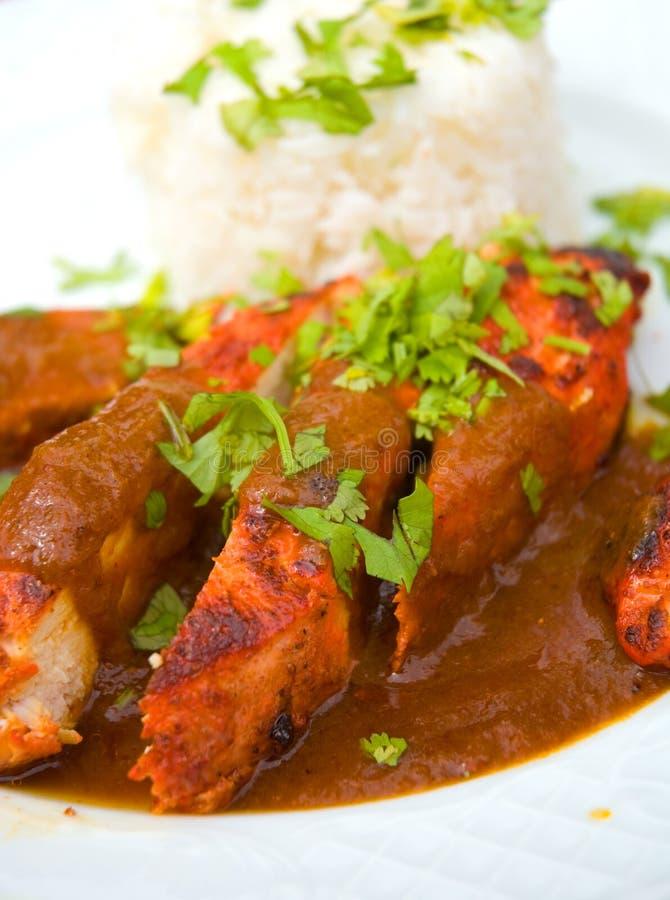 鸡食物印第安泰国 免版税图库摄影