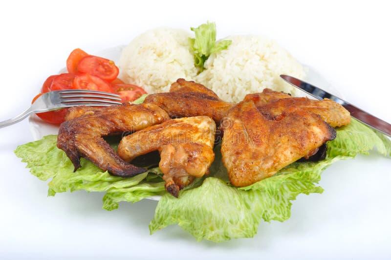鸡饮食翼 库存照片