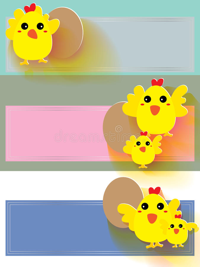 鸡贴纸 向量例证