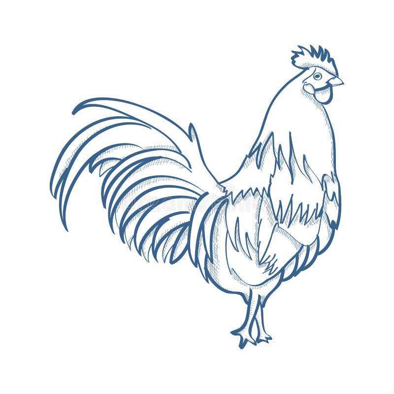 鸡 皇族释放例证