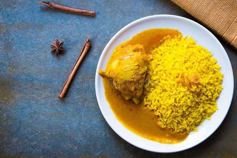 鸡Biryani用米 免版税库存图片