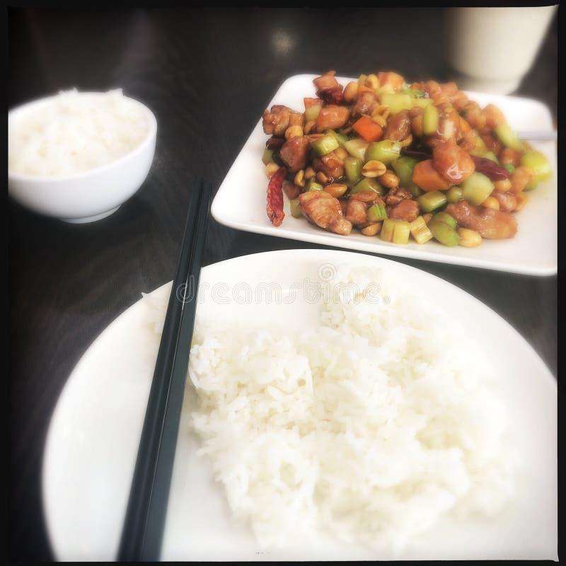 鸡kung pao 免版税图库摄影