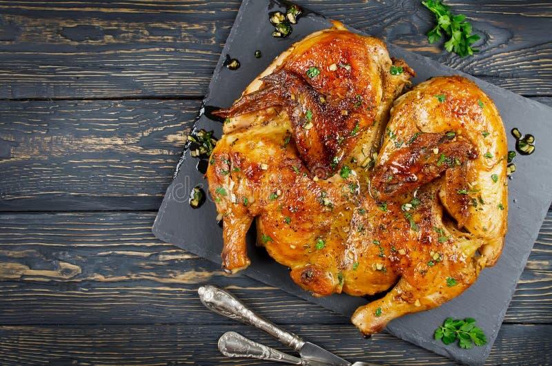 鸡Tabaka (英王乔治一世至三世时期传统烹调) 库存图片
