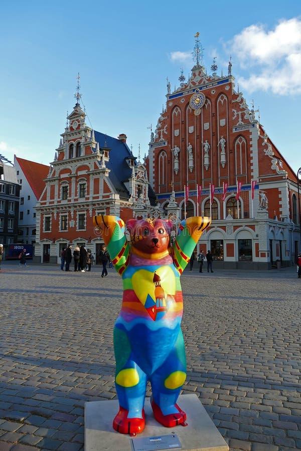 鸥的议院在里加,拉脱维亚 库存图片