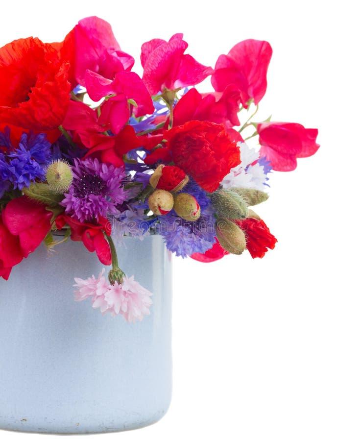 鸦片、香豌豆花和玉米花 库存图片
