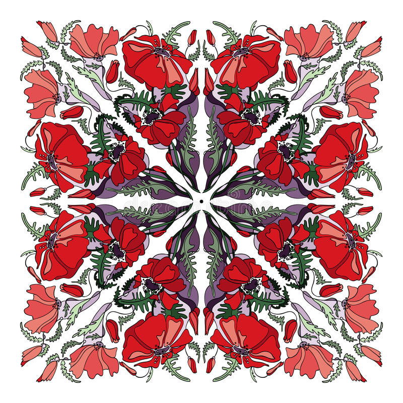 鸦片方形的五颜六色的背景 皇族释放例证