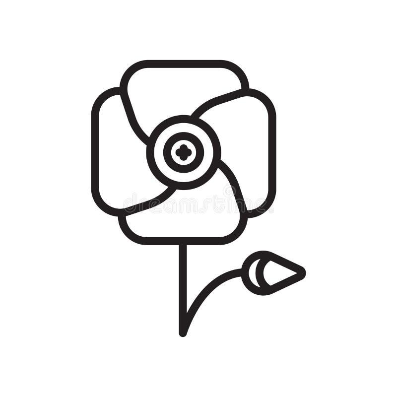 鸦片象在白色背景和标志隔绝的传染媒介标志 向量例证
