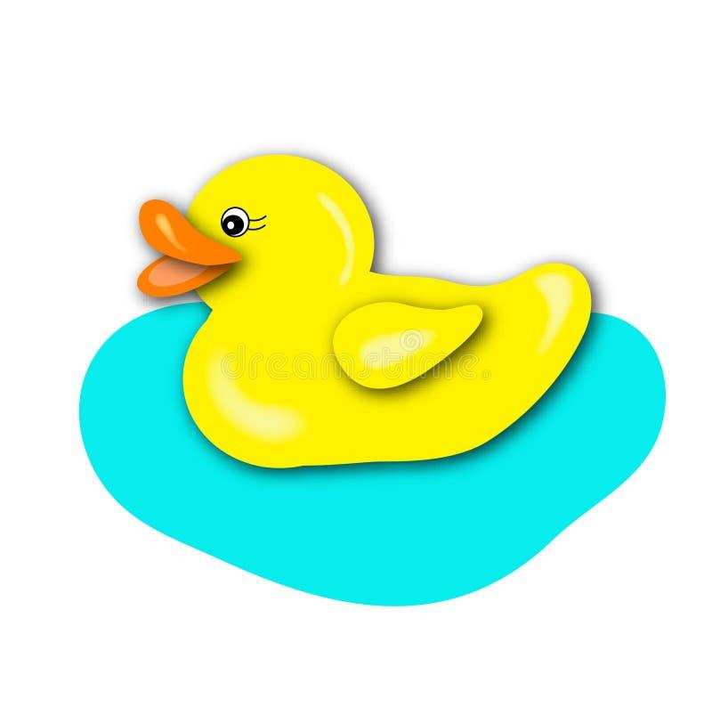 鸭子一黄色 皇族释放例证