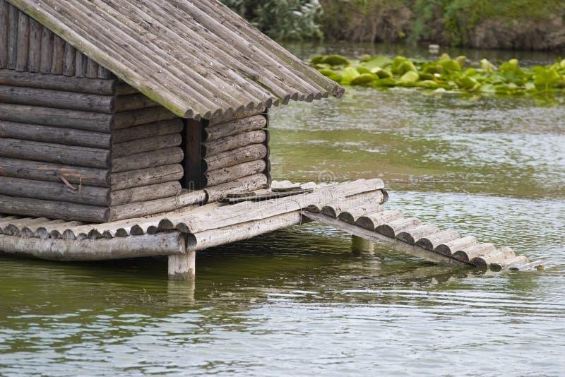 鸭子湖风雨棚 库存照片