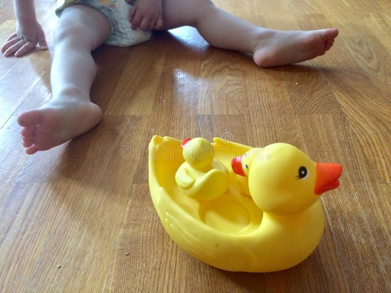 鸭子玩具 免版税图库摄影