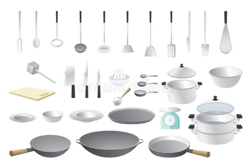 鸭子表单厨房精密支持器物 向量例证