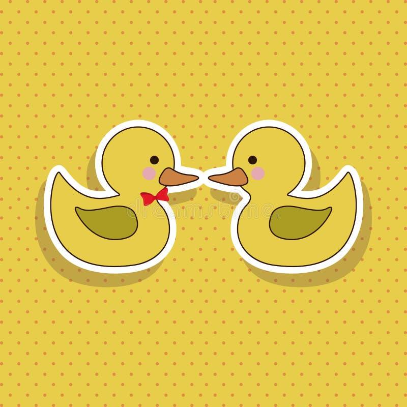 鸭子 向量例证