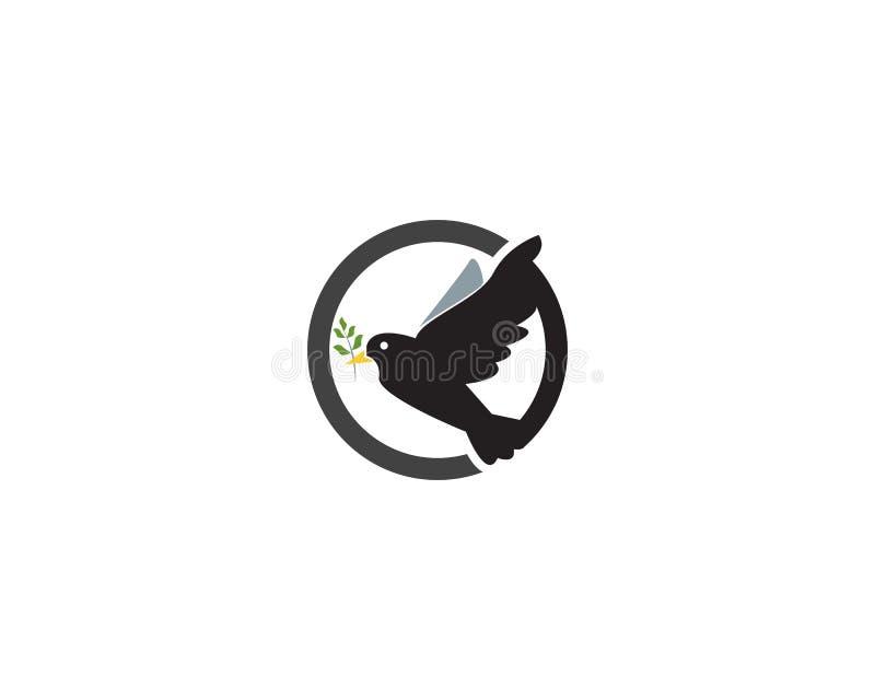 鸽子商标例证图象设计 库存例证