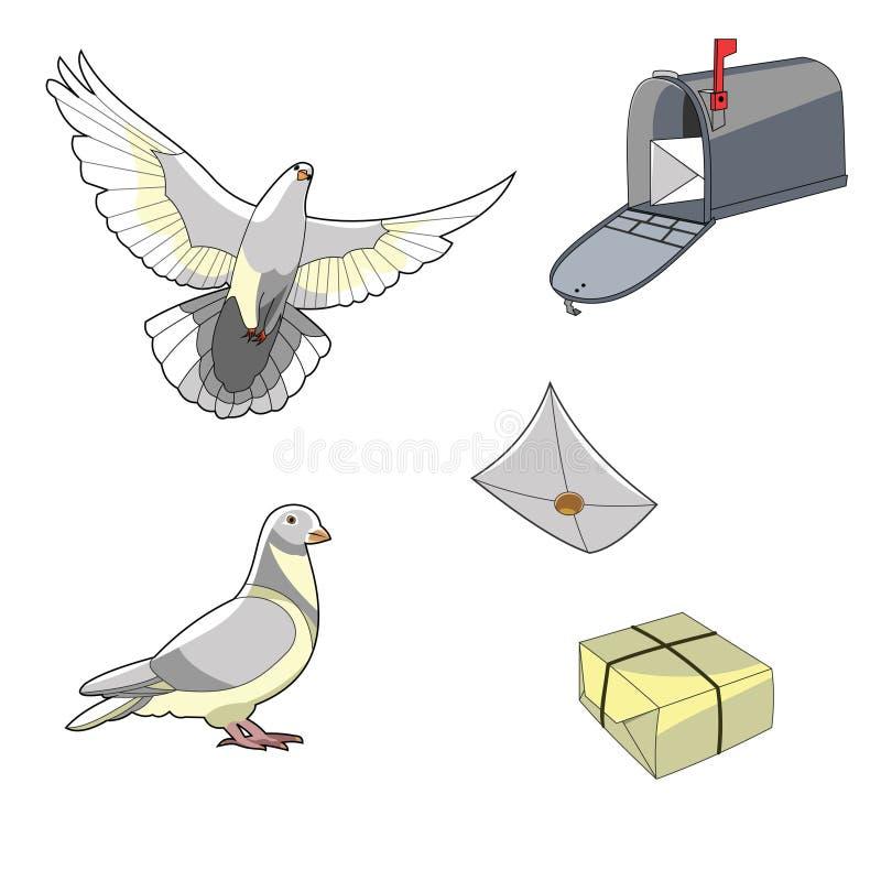 鸽子邮件set1 图库摄影