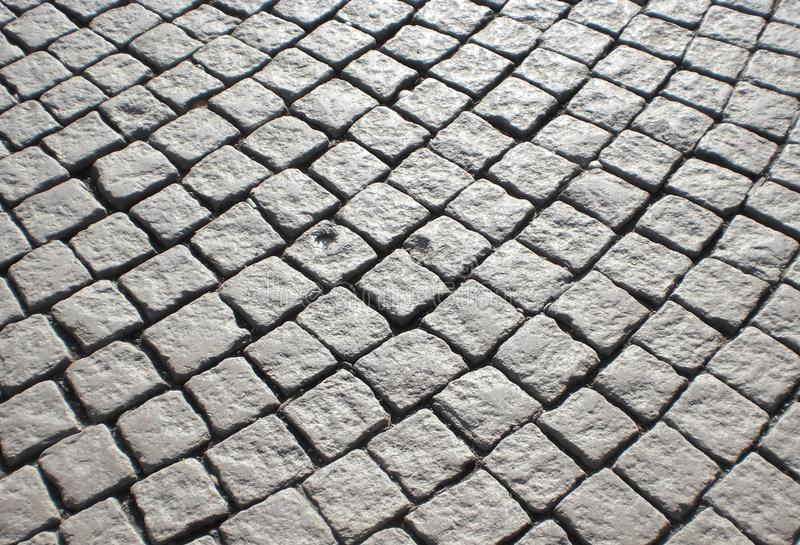 鹅卵石街道在斯德哥尔摩 库存图片