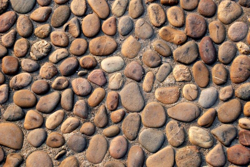 鹅卵石路径 免版税库存照片