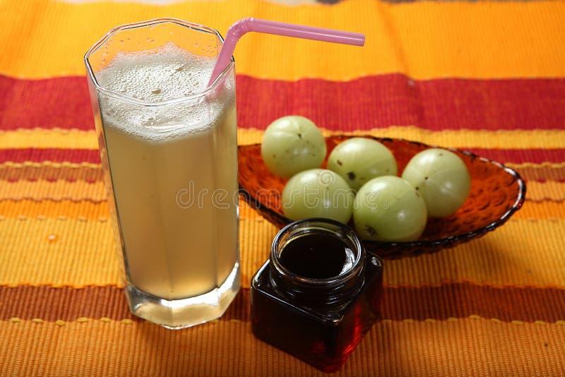 鹅莓汁, Nelli kai Sharbath, Amla Sharbath 免版税库存照片