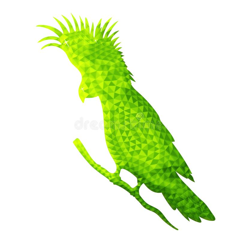 鹦鹉传染媒介设计在低多样式的 皇族释放例证