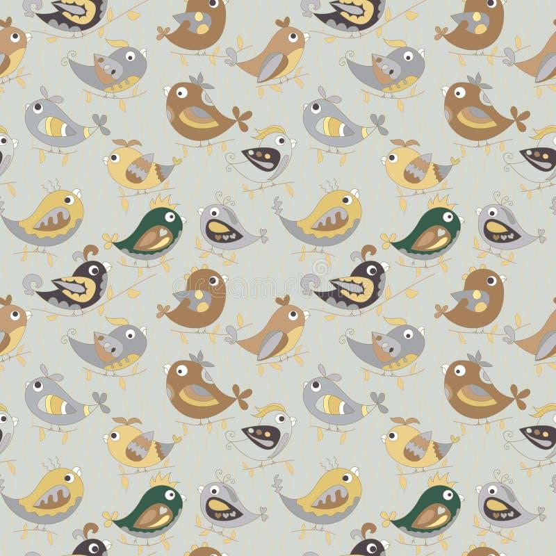 鹦鹉无缝的五颜六色的样式 皇族释放例证