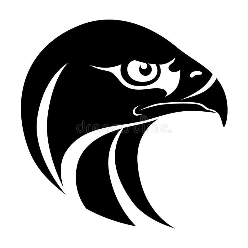 鹰顶头标志 皇族释放例证