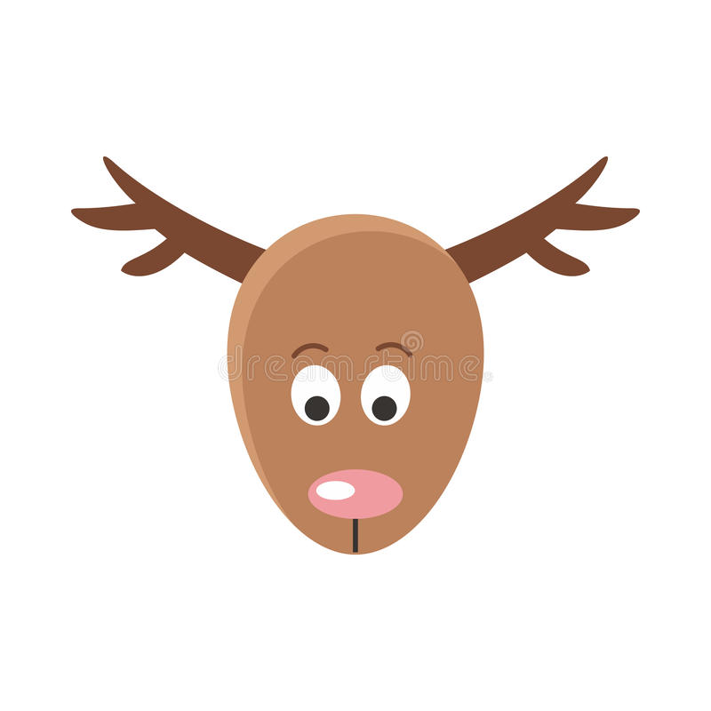 鹿动画片贴纸面孔 化妆舞会的屏蔽 皇族释放例证