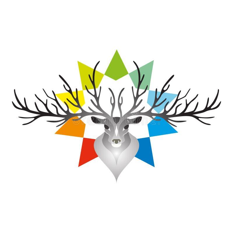 鹿头 也corel凹道例证向量 图库摄影